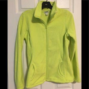 OldNavy neon yellow fleece jacket size S NWOT